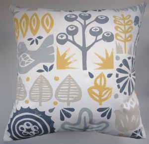 "Cushion Cover in Scion Woodland Yellow 14"" 16"" 18"" 20"""